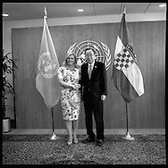 President of Croatia,Kolinda Grabar-Kitarovic,  with United Nations Secretary General Ban Ki moon.