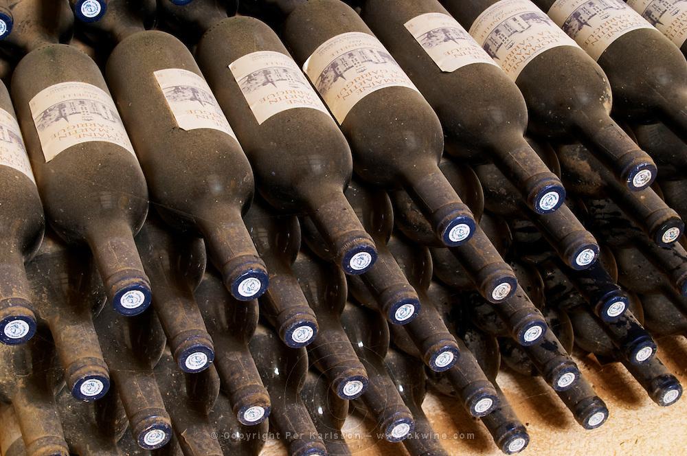 Chateau St Martin de la Garrigue. Languedoc. Bottle cellar. France. Europe. Bottle.
