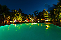 Swimming Pool, Le Meredien Ile des Pins beach resort hotel, Baie d'Oro (Oro Bay), Ile des Pins (Isle of Pines), New Caledonia