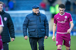 Arbroath's manager Dick Campbell at the end. Raith Rovers 0 v 1 Arbroath. Scottish Football League Division One game played 16/2/2109 at Stark's Park.