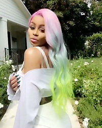"""Blac Chyna releases a photo on Instagram with the following caption: """"\ud83d\udc8b"""". Photo Credit: Instagram *** No USA Distribution *** For Editorial Use Only *** Not to be Published in Books or Photo Books ***  Please note: Fees charged by the agency are for the agency's services only, and do not, nor are they intended to, convey to the user any ownership of Copyright or License in the material. The agency does not claim any ownership including but not limited to Copyright or License in the attached material. By publishing this material you expressly agree to indemnify and to hold the agency and its directors, shareholders and employees harmless from any loss, claims, damages, demands, expenses (including legal fees), or any causes of action or allegation against the agency arising out of or connected in any way with publication of the material."""