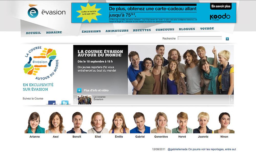 Promotional group and individual portrait photography. La Course Évasion Autour du Monde, Canal Évasion. 2010.