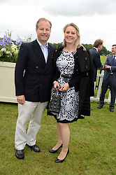 VISCOUNT & VISCOUTESS CHELSEA at the 2013 Cartier Queens Cup Polo at Guards Polo Club, Berkshire on 16th June 2013.