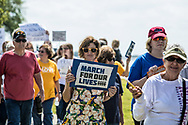 March For Our Lives event in Mandeville Louisiana on March 24, 2018. Marches took place all across the United States and in other countries around the world in support of strong gun controll laws in the United States following the school shooting in Parkland, Florida, where 17 were killed by a young gunman. March For Our Lives event in Mandeville, Louisiana on March 24, 2018.