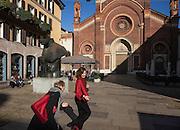 Italy, Milan, Brera.piaza del Carmine, Chiesa del Carmine