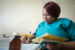 2 March 2017, Ma Mafefooane Valley, Lesotho: Nurse Mathapelo Ts'olo at work. Saint Joseph's Hospital is a district hospital in the Ma Mafefooane Valley in Lesotho. The hospital was established in 1937 and is run as a Roman Catholic non-profit institution by the Christian Health Association of Lesotho. As a district hospital, it offers comprehensive healthcare including male, female, paediatric, Tuberculosis and maternity care. It is closely linked with the neighbouring Roma College of Nursing, which runs on similar premises as part of the same institution. Drug supplies are secured to the hospital by means of a Memorandum of Understanding with the government.