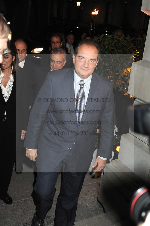 The Prime Minister of Greece KOSTAS KARAMANLIS at the opening of the Royal Academy of Arts Byzantium 330-1453 exhibition held at the RA, Burlington House, Piccadilly, London on 21st October 2008.