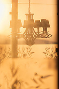Chandelier at sunset in Casablanca, Morocco