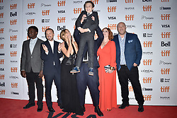 Jake Scott, Aaron Paul, Christina Hendricks, Sienna Miller, Will Sasso and Aidan McGraw attend the American Women screening held at the Princess of Wales Theatre during the Toronto International Film Festival in Toronto, Canada on September 9th, 2018. Photo by Lionel Hahn/ABACAPRESS.com