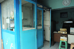 June 16, 2017 - Semarang, Java, Indonesia - Phone stalls that are still intact with complete equipment with closed room booth but the presence is still maintained in the densely populated area of Semarang, Central Java, June 18, 2017. Since the arrival of smart phone technology many stalls Telephone closures due to losing cost and technology competition. (Credit Image: © Dasril Roszandi/NurPhoto via ZUMA Press)