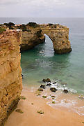 A desert beach in Algarve region, the most visited by tourists in Portugal.