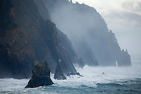 Winter storm along the Oregon Coast. Oswald West State Park, OR
