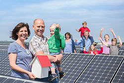 Solar cells large family energy electricity