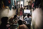 Bangkok  March 2014, Prisoners training at Bangkok's Klong Prem prison. Klong-prem Central Prison, or generally called Lad-yao prison, is a high-security prison in Bangkok, taking in custody of male offenders whose sentence term is not over 25 years. With its general capacity to incarcerate offenders (5000+), the prison currently takes in custody of both Thai and foreign nationals. <br /> The inmates is part of a program that pits prisoners against foreign Muay Thai fighters or others inmates for a chance of reduced sentencing or early release. In 2012 an Estonian entrepreneur, in conjunction with Thailand's Department of Corrections, began a series of bouts arranged between Thai prisoners and Western Muay Thai fighters under the banner 'Prison Fight'. For the prisoners a victory holds the potential of time off their sentence while the Westerners fight for a small purse and personal ambition. Since the launch of 'prison fight' a number of prisons have adopted the idea, encouraging prisoners to take up boxing to fight drug abuse and to give them a purpose while incarcerated.Bangkok  Mars 2014, <br /> Des détenus s'entraînent à la prison de Klong Prem à Bangkok. La prison centrale de Klong-prem, ou prison de Lad-yao, est une prison de haute sécurité de Bangkok qui accueille en détention des délinquants de sexe masculin dont la peine ne dépasse pas 25 ans. Avec sa capacité générale d'incarcération des délinquants (plus de 5 000), la prison accueille actuellement des ressortissants thaïlandais et étrangers en détention. <br /> Les détenus font parties d'un programme qui oppose les détenus à des combattants étrangers du Muay Thai ou à d'autres détenus pour obtenir une réduction de peine ou une libération anticipée. En 2012, un entrepreneur estonien, en collaboration avec le Département de l'administration pénitentiaire thaïlandais, a lancé une série de combats organisés entre des prisonniers thaïlandais et des combattants du Muay Thai occidental sous la