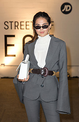Doina Ciobanu on the front row during the Streets of EQT with Hailey Baldwin at London Fashion Week SS18 show held at The Old Truman Brewery, London.