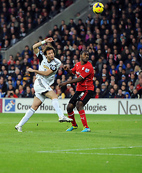 Swansea City's Michu fires over - Photo mandatory by-line: Joe Meredith/JMP - Tel: Mobile: 07966 386802 03/11/2013 - SPORT - FOOTBALL - The Cardiff City Stadium - Cardiff - Cardiff City v Swansea City - Barclays Premier League
