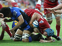 Action during the Super 15 match between the Queensland Reds and the Western Force. Final score Force (20) - Reds (21)...Played at Lang Park, Brisbane (20 February 2011)...Photo: SMP IMAGES (Warren Keir)/SPORTZPICS.
