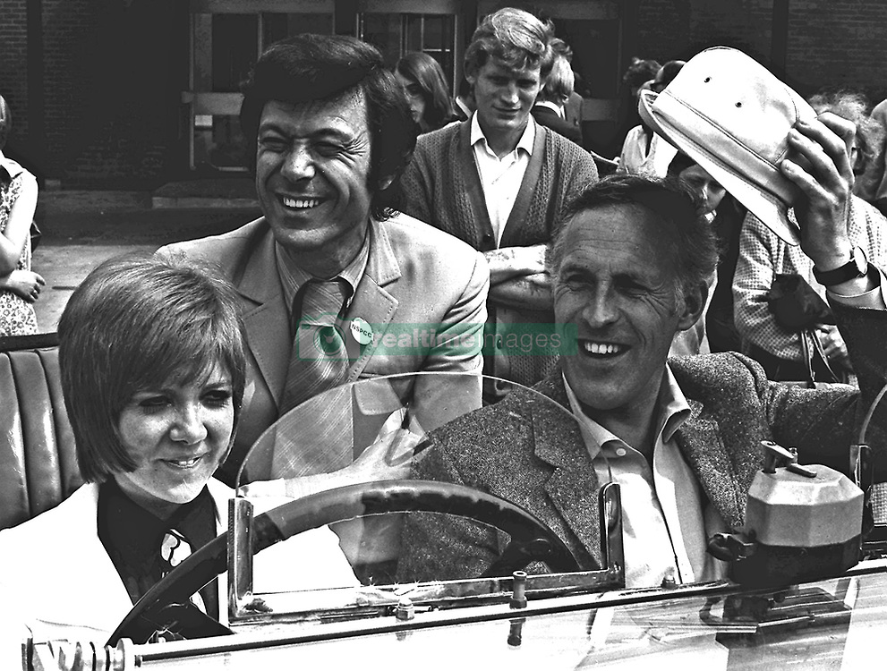 File photo dated 15/06/69 of Cilla Black, with choreographer Lionel Blair (centre) and Bruce Forsyth in Leeds, as the veteran entertainer has died aged 89.