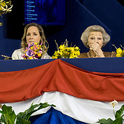 NLD/Amsterdam/20190126 - Prinses Beatrix bezoekt Jumping Amsterdam 2019, Prinses Margarita de Bourbon de Parme en Prinses Beatrix