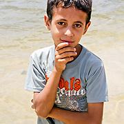 Abdu poses by the Nile, Borg-Meghezil.