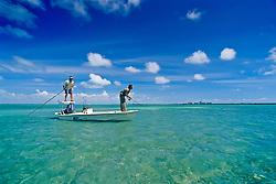 flats fishing for bonefish, Stiltsville, Biscayne National Park, Miami, Florida, USA, Atlantic Ocean