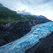 A general view of Exit Glacier at the Kenai Fjords National Park in Seward, Alaska, on Thursday, August 4, 2016. (Alex Menendez via AP)