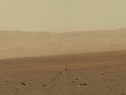 This color image from NASA's Curiosity rover shows part of the wall of Gale Crater, the location on Mars where the rover landed.