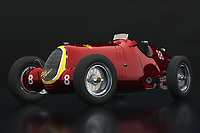 With a top speed of 255km per hour the Alfa Romeo 8c was by far the best racing car of the 30's. Alfa Romeo had such a dominant position with this Alfa Romeo 8c that it won the most races.<br />