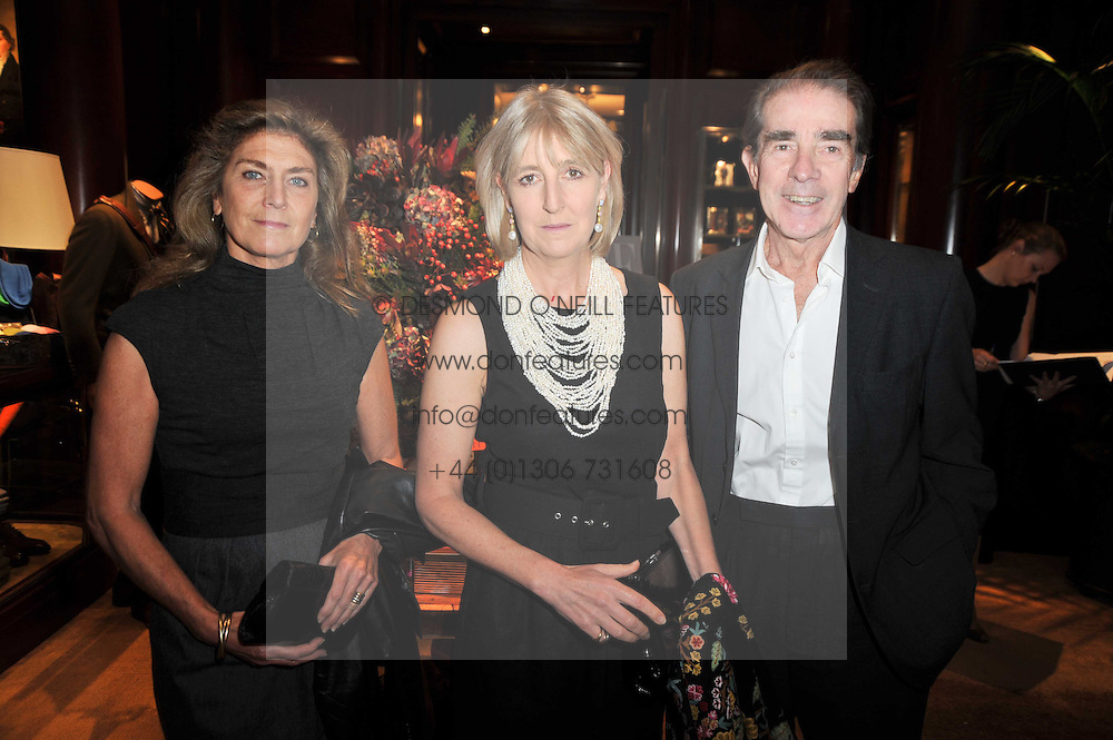 Left to right, PRINCESS VICTORIA VON PREUSSEN and the EARL & COUNTESS ALEXANDER OF TUNIS at a signing of Redeeming Features - Nicky Haslam's autobiography hosted by House & Garden magazine held at Ralph Lauren, Bond Street, London on 29th October 2009.