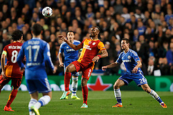 Galatasaray Forward Didier Drogba (CIV) in action - Photo mandatory by-line: Rogan Thomson/JMP - 18/03/2014 - SPORT - FOOTBALL - Stamford Bridge, London - Chelsea v Galatasaray - UEFA Champions League Round of 16 Second leg.