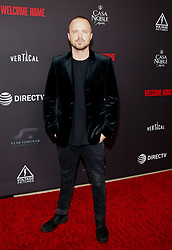 Aaron Paul at the Los Angeles premiere of 'Welcome Home' held at the London Hotel in West Hollywood, USA on November 4, 2018.