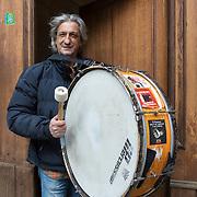 Piccolo Teatro Grassi, Milano, Italia, 3 Aprile 2021. Giancarlo Aprea, 65, insegnante in pensione.