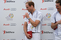 HRH THE DUKE OF CAMBRIDGE at the Audi Polo Challenge 2013 at Coworth Park Polo Club, Berkshire on 3rd August 2013.