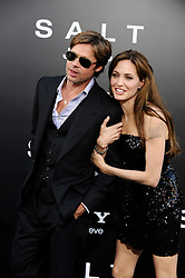 Angelina Jolie and Brad Pitt were married Saturday in the French hamlet of Correns, a spokesman for the couple says. Jolie and Pitt wed in a small chapel in a private ceremony attended by family and friends at Provence's Chateau Miraval. In advance of the nondenominational civil ceremony, Pitt and Jolie obtained a marriage license from a local California judge. The judge also conducted the ceremony in France. File photo : Brad Pitt and Angelina Jolie arriving for the premiere of 'Salt' held at the Grauman's Chinese Theatre in Los Angeles, CA, USA on July 19, 2010. Photo by Lionel Hahn/ABACAPRESS.COM