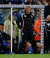Photo: Steve Bond.<br />Birmingham City v Sunderland. The FA Barclays Premiership. 15/08/2007.  Steve Bruce can only watch