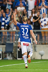 August 2, 2018 - Poznan, Poland - Christian Gytkjaer (Lech) celebrates his 3rd goal during UEFA Europa League Second Qualifying Round: 2st leg match between Lech Poznan and Shakhtior Soligorsk at Stadion Miejski in Poznan, Poland, on 2 August 2018. (Credit Image: © Foto Olimpik/NurPhoto via ZUMA Press)