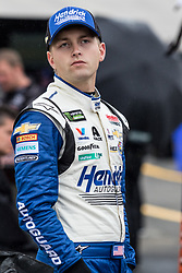 October 5, 2018 - Dover, DE, U.S. - DOVER, DE - OCTOBER 05: William Byron driver of the #24 Hendrick Autoguard Chevrolet on the grid, waiting out a rain delay for qualifying for the Monster Energy NASCAR Cup Series Gander Outdoors 400 on October 05, 2018, at Dover International Speedway in Dover, DE. Qualifying was canceled after approximately a 40 minute delay. (Photo by David Hahn/Icon Sportswire) (Credit Image: © David Hahn/Icon SMI via ZUMA Press)