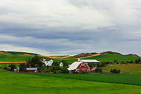 Red Barn in the Palouse region of rural Washington State<br /> <br /> ©2016, Sean Phillips<br /> http://www.RiverwoodPhotography.com