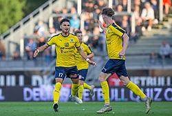 Edgar Babayan (Hobro IK) jubler efter udligningen til 2-2 under kampen i 3F Superligaen mellem Lyngby Boldklub og Hobro IK den 20. juli 2020 på Lyngby Stadion (Foto: Claus Birch).