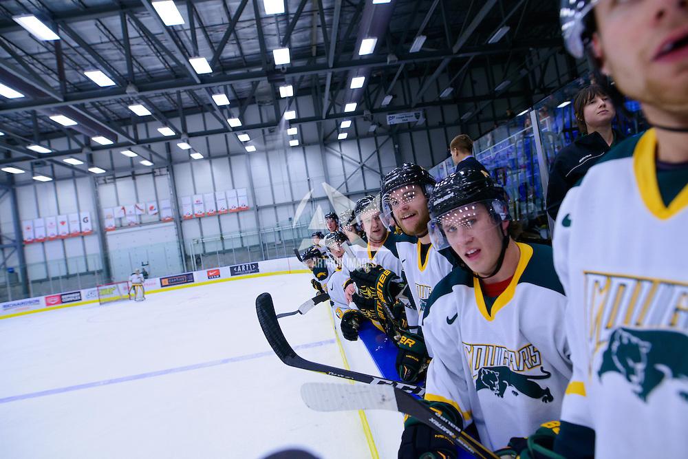 Men's Hockey Home Opener on October 21 at Co-operators arena. Credit: Arthur Ward/Arthur Images