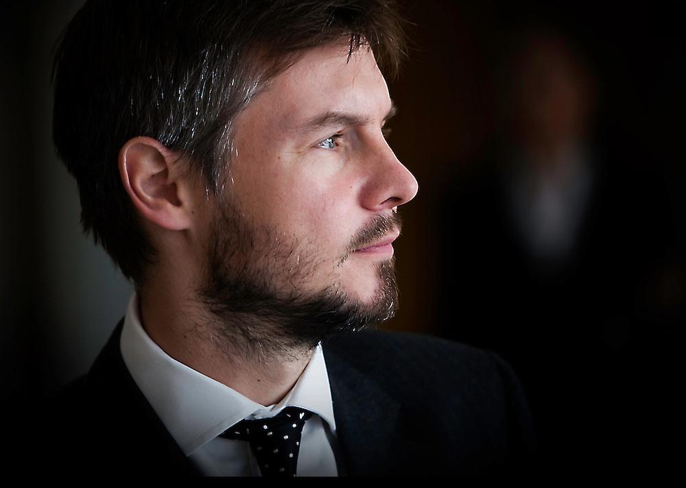 Corporate headshot of City banker, London