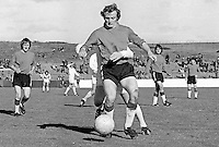 Roy Stewart, footballer, Glentoran FC, Belfast, N Ireland, 197310000603<br /> <br /> Copyright Image from Victor Patterson, 54 Dorchester Park, Belfast, UK, BT9 6RJ<br /> <br /> t1: +44 28 9066 1296 (from Rep of Ireland 048 9066 1296)<br /> t2: +44 28 9002 2446 (from Rep of Ireland 048 9002 2446)<br /> m: +44 7802 353836<br /> <br /> e1: victorpatterson@me.com<br /> e2: victorpatterson@gmail.com<br /> <br /> The use of any of my copyright images is subject to my Terms & Conditions. It is IMPORTANT that you familiarise yourself with them. They are available at my website, victorpatterson.com.<br /> <br /> None of my copyright images may be used on the Internet unless they are visibly watermarked, i.e. © Victor Patterson within the body of the image. My metadata, denoting my copyright must NOT be deleted. <br /> <br /> Web use is extra at currently recommended NUJ rates. Maximum permitted web size is<br />  400kb. <br /> <br /> Images must not be passed on to a third party - they are for the use of the authorised recipient only.