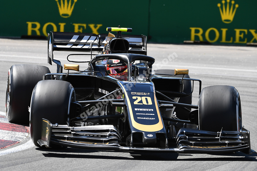 Kevin Magnussen (Haas-Ferrari) during practice for the 2019 Canadian Grand Prix in Montreal. Photo: Grand Prix Photo
