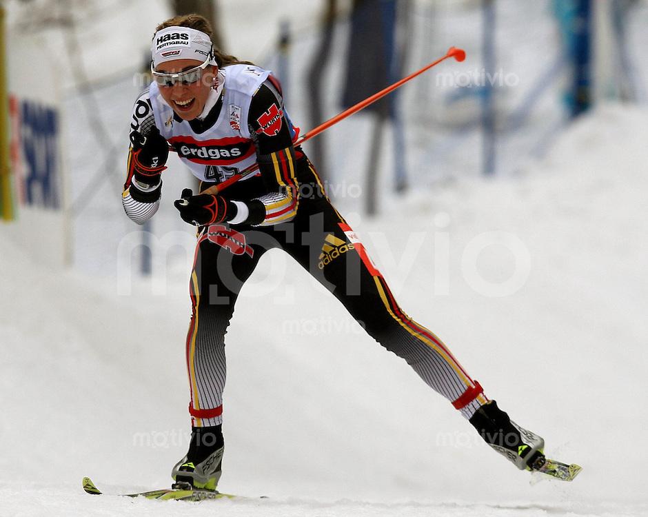 Sapporo , 270207 , Nordische Ski Weltmeisterschaft  Frauen 10km Freistil ,  Steffanie BOEHLER (GER)