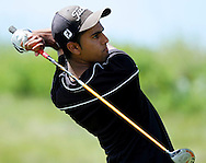 Deer Valley's Jaskaran Sihota tees off on the ninth hole at the BVAL golf championship at Roddy Ranch Golf Course on Monday, April 30, 2012. (Photo by Kevin Bartram)