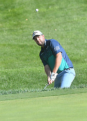 August 10, 2018 - St. Louis, Missouri, U.S. - ST. LOUIS, MO - AUGUST 10: Marc Fleishman hits from the rough on to the #15 green during the second round of the PGA Championship on August 10, 2018, at Bellerive Country Club, St. Louis, MO.  (Photo by Keith Gillett/Icon Sportswire) (Credit Image: © Keith Gillett/Icon SMI via ZUMA Press)