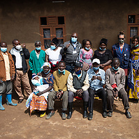 Members of the local health committee with Meg Dunsmore, Team Leader of the IMA Ebola Response and Recovery Project. Vighole near Butembo, North Kivu, DRC.