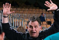Coach of Krka Janko Pernar at Women Slovenian Handball Cup, finals match for third place between RK Celeia Zalec and ZRK Krka, on April 5, 2009, in Arena Tivoli, Ljubljana, Slovenia. Won of Krka 27:24. (Photo by Vid Ponikvar / Sportida)