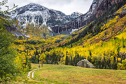 Telluride two track road to the autumn splendor. Colorado's San Juan Mountain autumn is truly something to experience.