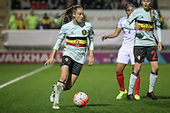 Tessa Wullaert (Belgium) during the Euro 2017 qualifier between England Ladies and Belgium Ladies at the New York Stadium, Rotherham, England on 8 April 2016. Photo by Mark P Doherty.